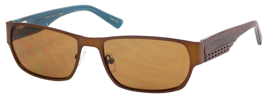 Perry Ellis Sun Rx 3042 in Brown/Dark Gunmetal