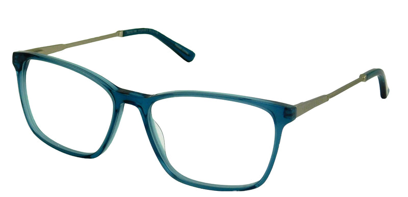 Perry Ellis 434 in Aqua Crystal/Tort.Gun/Black/Gun