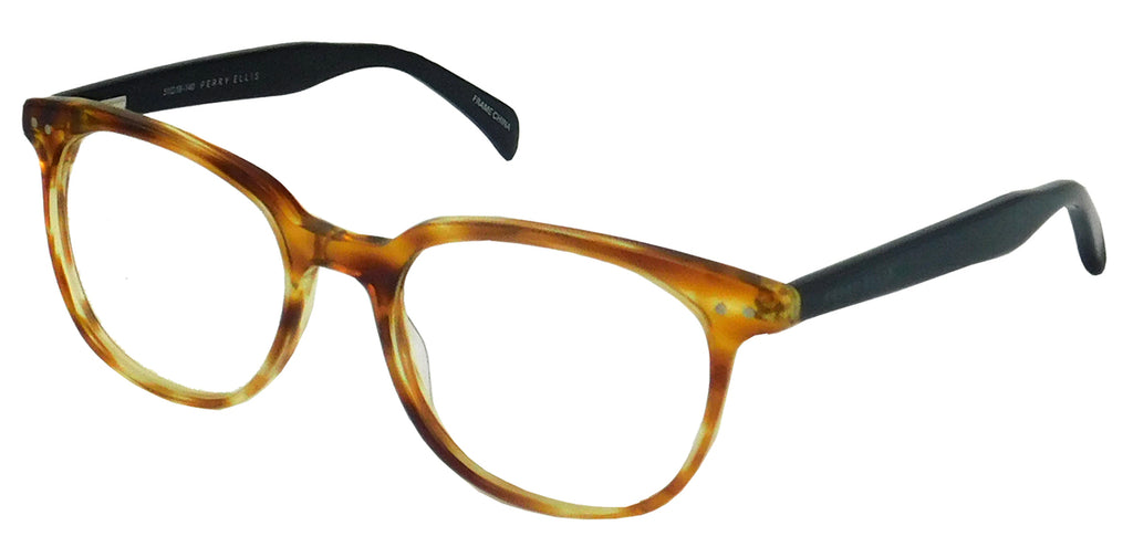 Perry Ellis 435 in Blonde/Black/Dark Burgundy Crystal/Black Amber