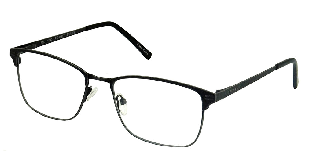 Perry Ellis 438 in Black/Gunmetal/Dark Brown