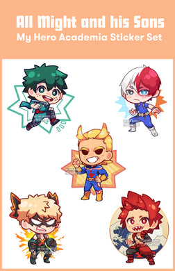BNHA Sticker Sheets! - r0cketcat Illustrations
