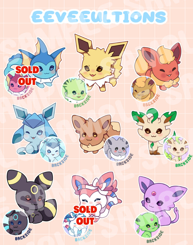 Eeveeultion Keyhcharms - r0cketcat Illustrations