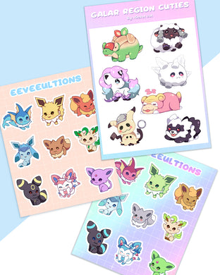 Pokemon Sticker Sheets - r0cketcat Illustrations