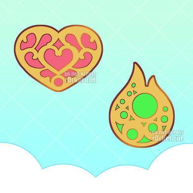 Heart and Stamina Pins - r0cketcat Illustrations