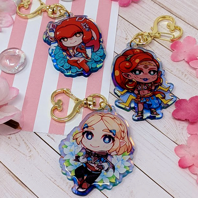 Zelda Acrylic Charms - r0cketcat Illustrations