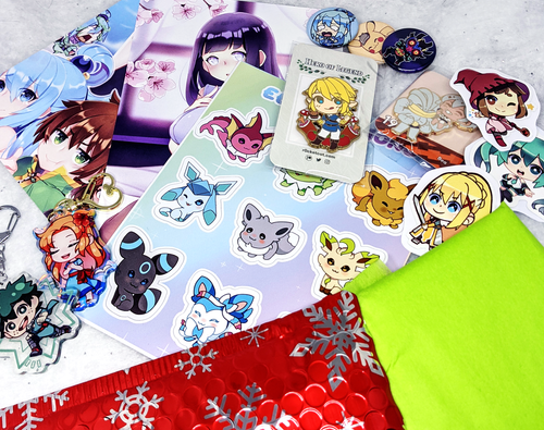 Secret Santa Gift Package - r0cketcat Illustrations