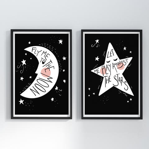 Fly Me To The Moon Print Set