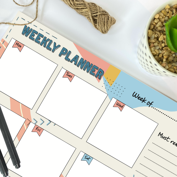 A4 Weekly Desk Pad Planner