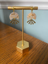 Load image into Gallery viewer, Sunburst Earrings in Gold Glass