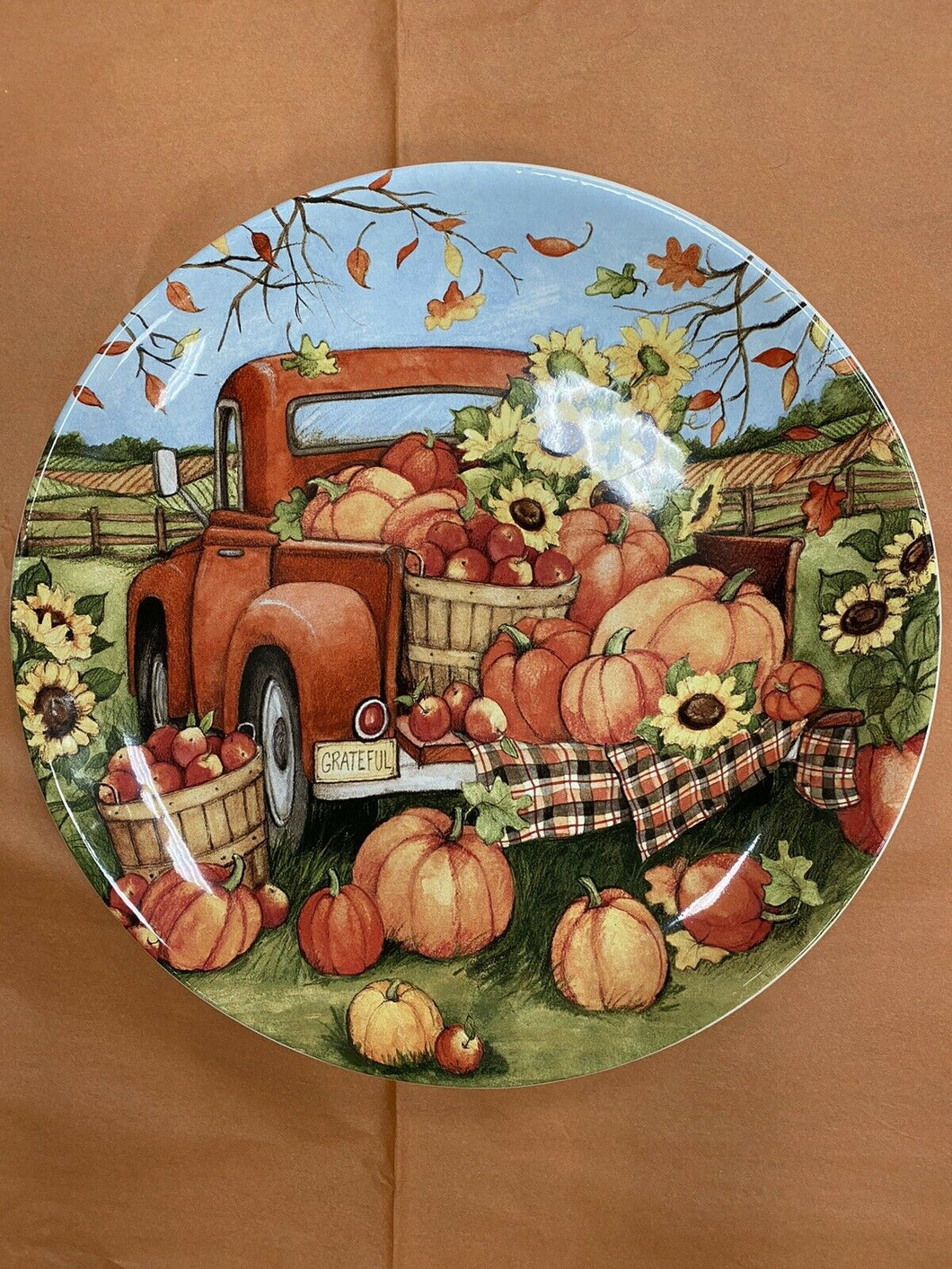 13 Inch Thanksgiving Plate