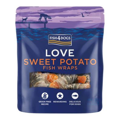 Fish4Dogs - Sweet Potato Fish Wraps 90g