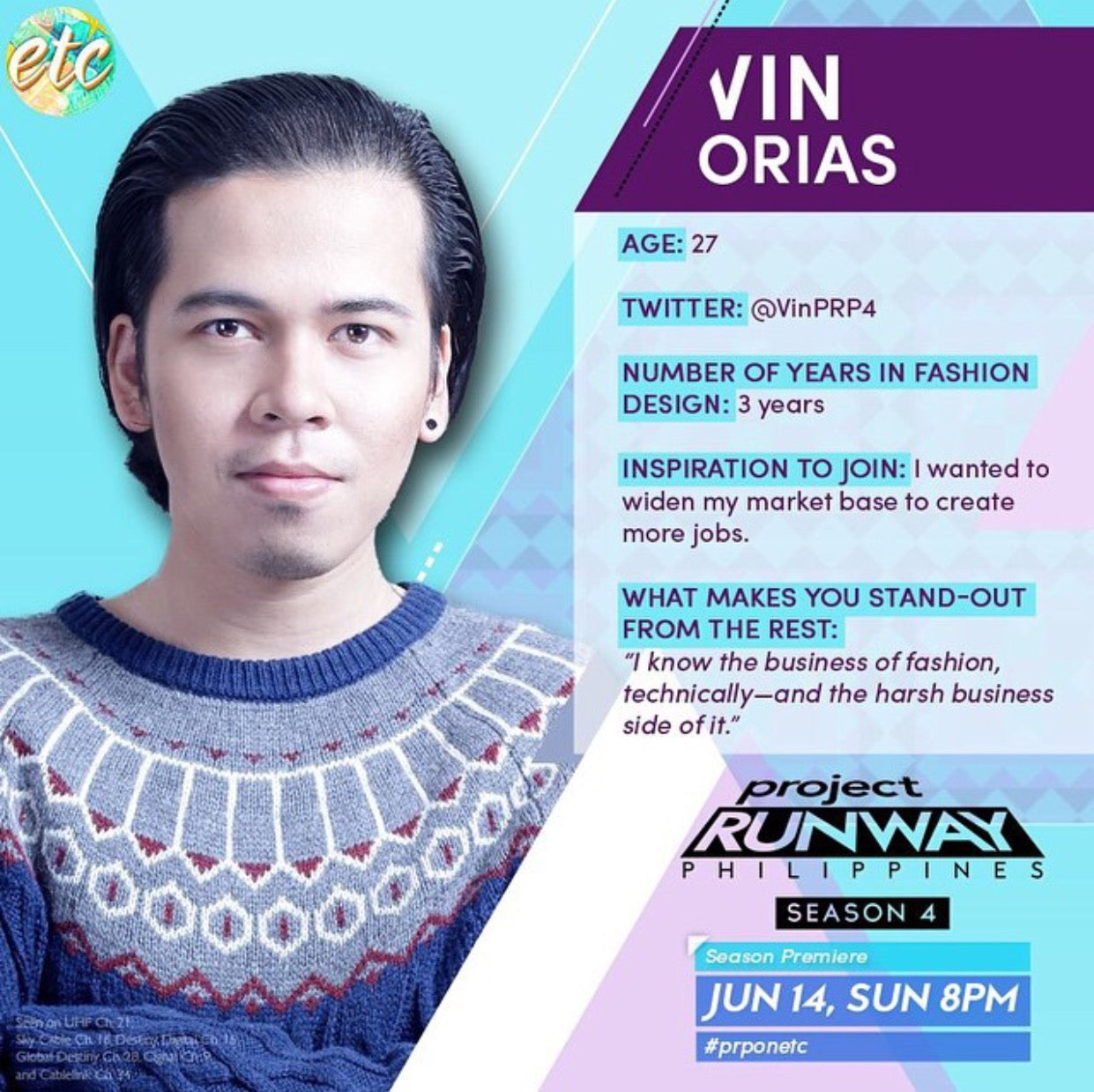 Vin Orias Project Runway Feature
