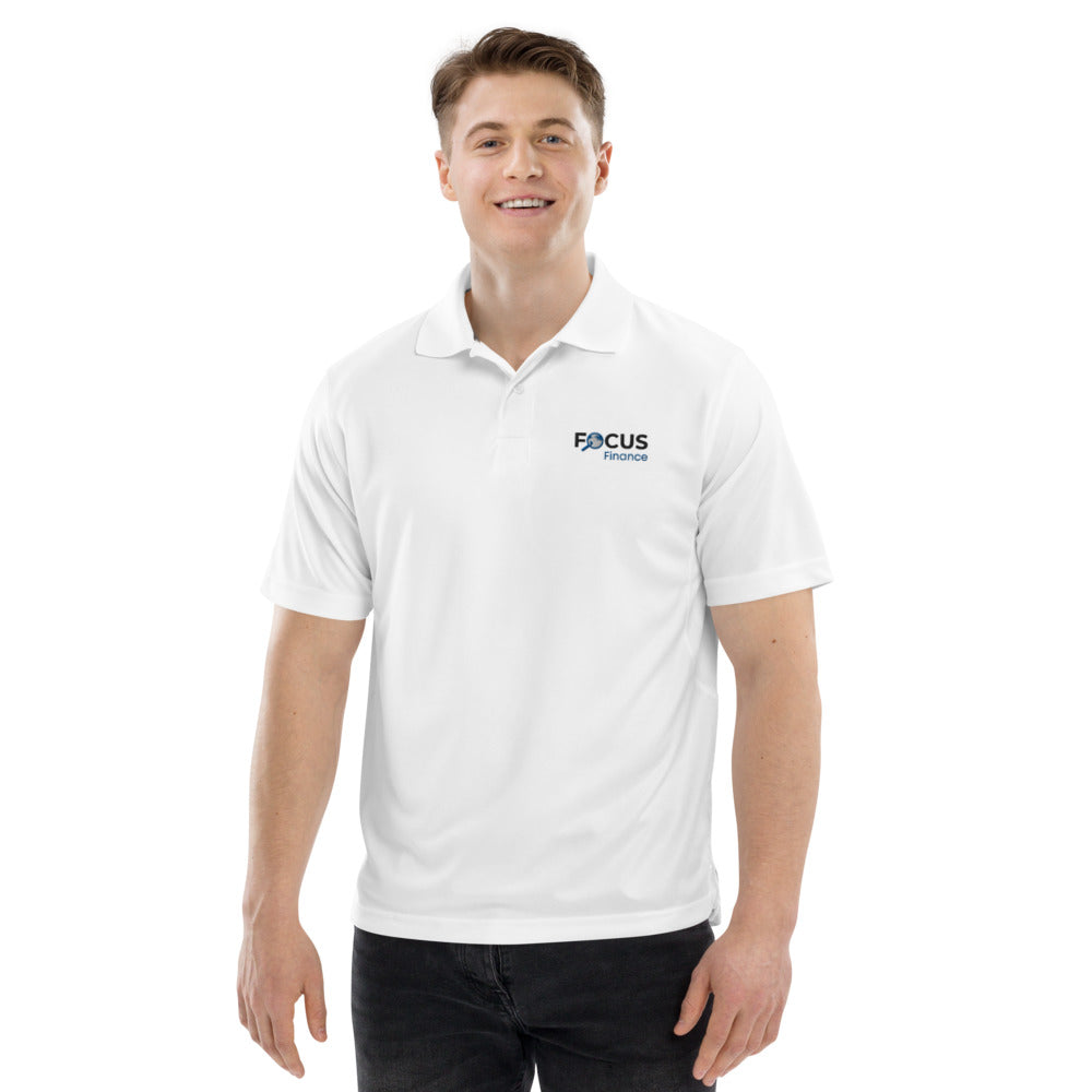 Focus Finance White Performance Polo (Mens)