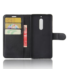 Leather Wallet Phone Cover - Nokia 5