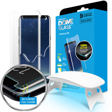 WhiteStone UV Full Glue Dome Glass - for Samsung S9 Plus