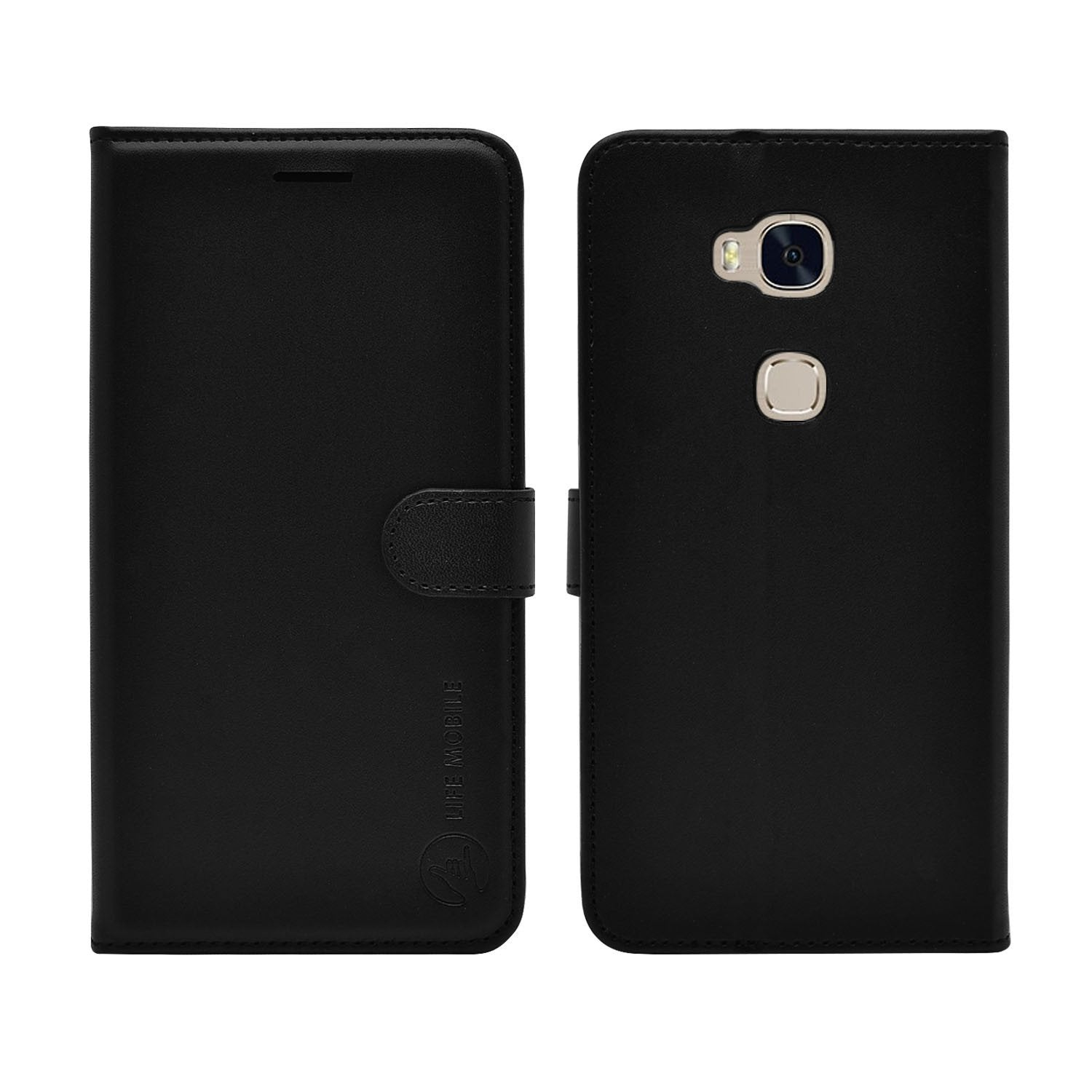 EVERYDAY Leather Wallet Phone Cover – Huawei GR5