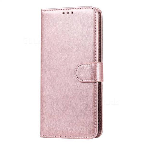 EVERYDAY Leather Wallet Phone Cover - Samsung A11 (Rose Gold)