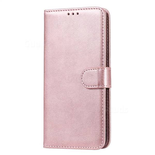 EVERYDAY Leather Wallet Phone Cover - Samsung A42 5G (Rose Gold)