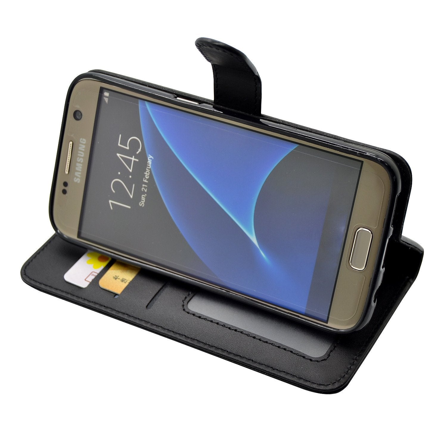 EVERYDAY Leather Wallet Phone Cover – Samsung Galaxy S6 Edge Plus