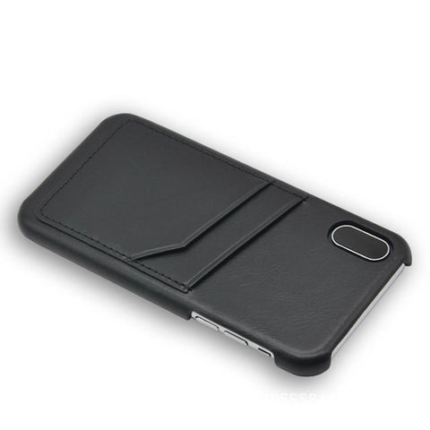Dapper Leather Back Case with card slot - iPhone X