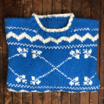 Load image into Gallery viewer, Blue and White Sweater