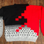 Charger l'image dans la galerie, Geometric Pattern 80s Style Sweater