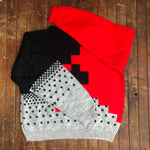 Load image into Gallery viewer, Geometric Pattern 80s Style Sweater