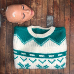 Load image into Gallery viewer, Green and White Sweater