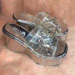 Load image into Gallery viewer, dELiA*s Silver Rhinestone Shoes