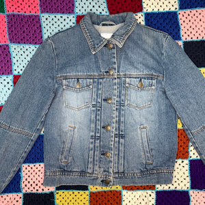 Lace-Up Jean Jacket
