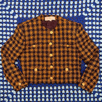 Charger l'image dans la galerie, Yellow Plaid Cropped Jacket