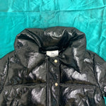Load image into Gallery viewer, Black Cropped Puffer Jacket