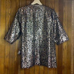 Gold Leopard Wrap Shirt