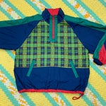 Load image into Gallery viewer, Green Plaid Half Zip
