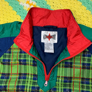 Green Plaid Half Zip