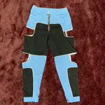 Load image into Gallery viewer, Blue and Black Cut Out Pants