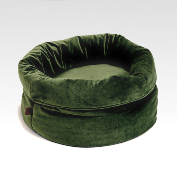 Velvet FLuco Cat Bed