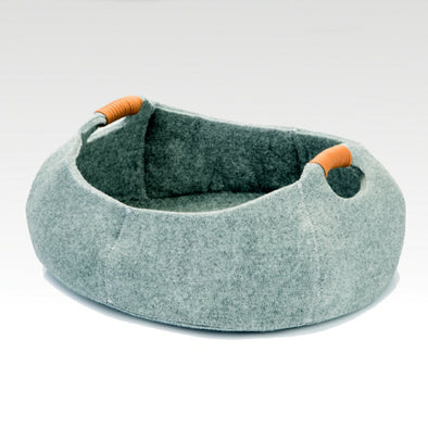 Felt Cat Bed Grey