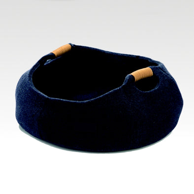 Felt Cat Bed Navy