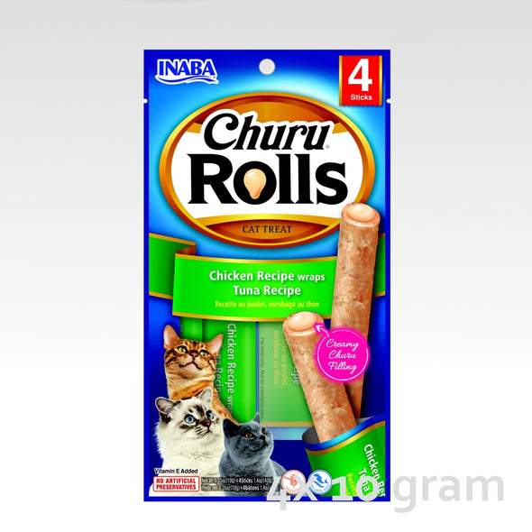 INABA Churu Rolls Chicken Wraps with Tuna Recipe