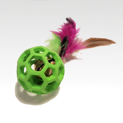 Feather Cat Ball & Bell