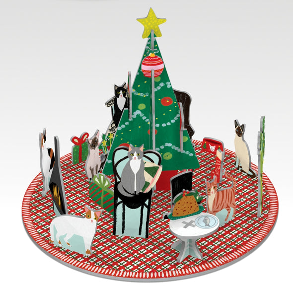 Cat Xmas Pop Up Deco
