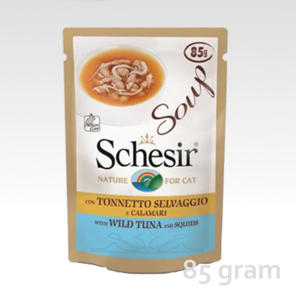 Schesir Cat Soup Tuna & Squids