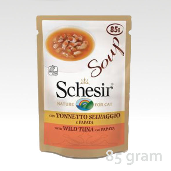 Schesir Cat Soup Tuna & Papaya