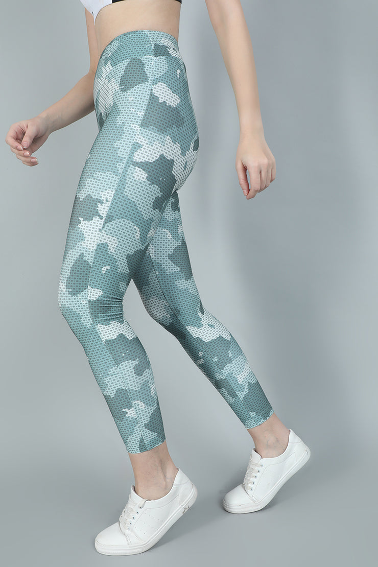Olive Womens Camouflage Gym Pants