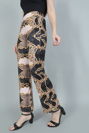 Baroque Printed Bootcut Trouser
