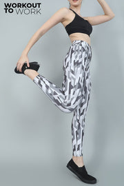 Geometric Camouflage Yoga Pants