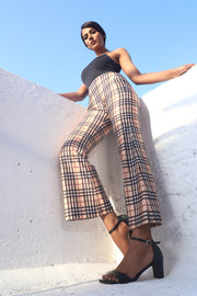 Nova Check Bootcut Formal Trousers