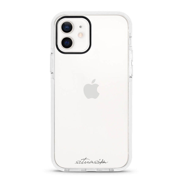 SITUASION Clear iPhonecase[Pure White]