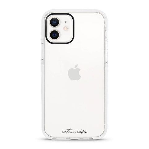 SITUASION Clear iPhonecase[Simple White]